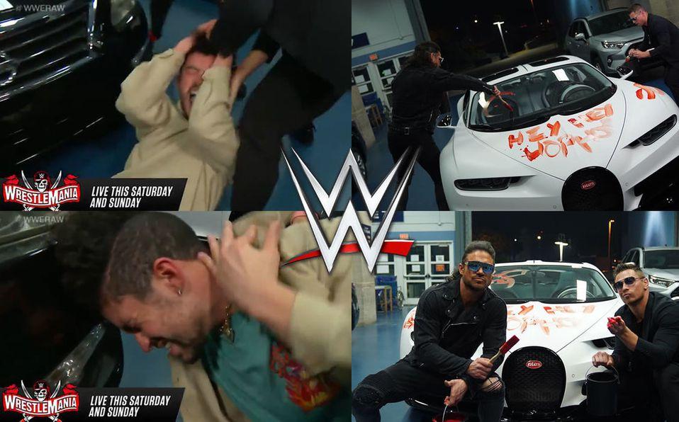 ¡Bad Bunny es golpeado y destruyen su auto deportivo previo a WrestleMania 37!
